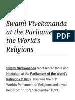 Vivekananda's