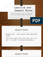 adjectives agreement