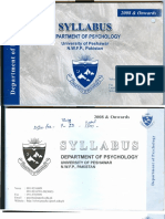 MSc Psychology Course Syllabus
