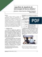 Analisis de superficie de alambron de cobre