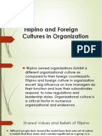 Filipino and Foreign Cultures in Organization