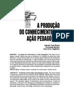 Becker - A Produção Do Conhecimento e a Ação Pedagógica