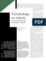 13articulo05 Salvador Díaz - Berrio Terminologia Conservación