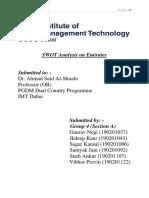 SWOT Analysis of Emirates