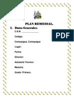 Plan Remedial de Primer Grado