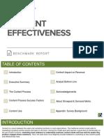 Content Effectiveness Benchmark Report