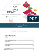 Content Experience Impact Benchmark Report