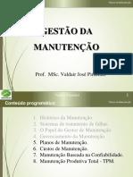 Manutenção - Aula 05 - Planos de Manutenção