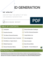 Demand Generation SEO Benchmark Report