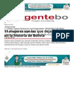 11 Mujeres Son Las Que Dejaron Huella en La Historia de Bolivia _ Urgentebo