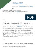 C674x CPU Features