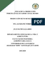 Estadisticas de La Produccion Porcina Nacinal y Mundial