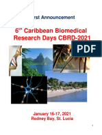 Conference Announcement - 6th Caribbean Biomedical Research Days CBRD-2018, Jan 16-17, 2021, Rodney Bay, St. Lucia