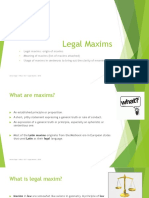Legal Maxims - 2019