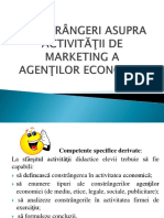 Constrangeri Asupra Activitatilor de Marketing a Agentilor Economici