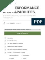 High Performance Abm Capabilities Benchmark Report