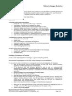 Online Catalogue Guideline Final 21092017