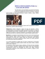 CARACTERÍSTICAS DE PALESTINA PARA LA LLEGADA DE JESÚS.docx