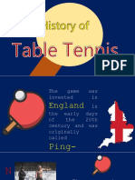 Table Tennis History Report
