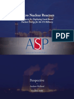 Micro Nuclear Reactors - Prospects for Deploying Land-Based Nuclear Energy for the US Military