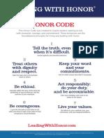 The Honor Code 7 Core Behaviors LE