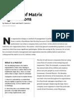 Problems of Matrix Organizations