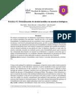 identificacion de metanol en pruebas biologicas