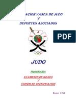 Judo - Programa-normativa Examen Grado