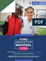 Documento Orientador Foro Educativo Nacional 2019