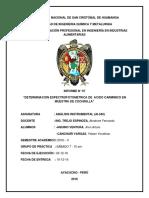 Determinación Espectrofotometrica de Acido Carminico en Muestra de Cochinilla