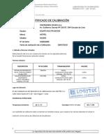 Certificado de Calibracion Tab