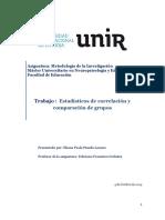 Estadísticos de Correlación y Comparación de Grupos