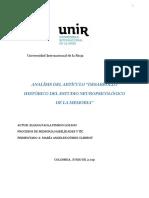 """Análisis Del Artículo """"Desarrollo Histórico Del Estudio Neuropsicológico de La Memoria"""""""