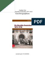 Gunther Mai - Die Marokko-Deutschen (Kurzbiographien)