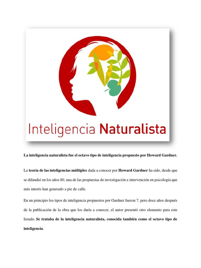 Inteligencia Naturalista Inteligencia Aprendizaje