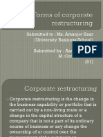 1. Forms of Corporate Restructuring