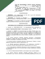 Formato Modelo de Escritura Constitutiva de Una Asociación Civil