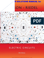Electric Circuits Instructor Solutions Manual 10th Edition by Nilsson and Riedel