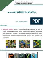 Aula 16 - Biodiversidade x Extinção 1-2017