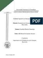 Conclusión IER Simulacion