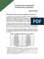 Métodos estadísticos en Geografía.
