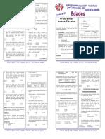 Ejercicios propuestos de edades - razonamiento matemático