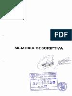 Memoria Descriptiva de presa