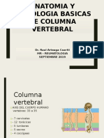 Anatomia y Semiologia de Columna Vertebral