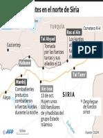 Combates en el norte de Siria