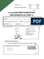 Prueba Matematica Unida 3...2016