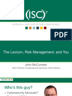 ISC2 Lexicon Risk Management and You