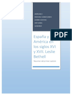 Resumen Primer Capítulo de Libro Historia de América Latina 2 - Leslie Bethell