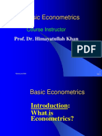 Basic Econometrics Introduction