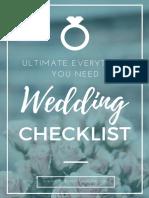 Ultimate Wedding Checklists City of Creative Dreams